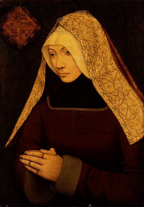 Alleged-to-be-a-young-Lady-Margaret-Beaufort-but-the-head-dress-is-of-the-fashion-of-the-early-1500s-when-Margaret-was-in-her-sixties