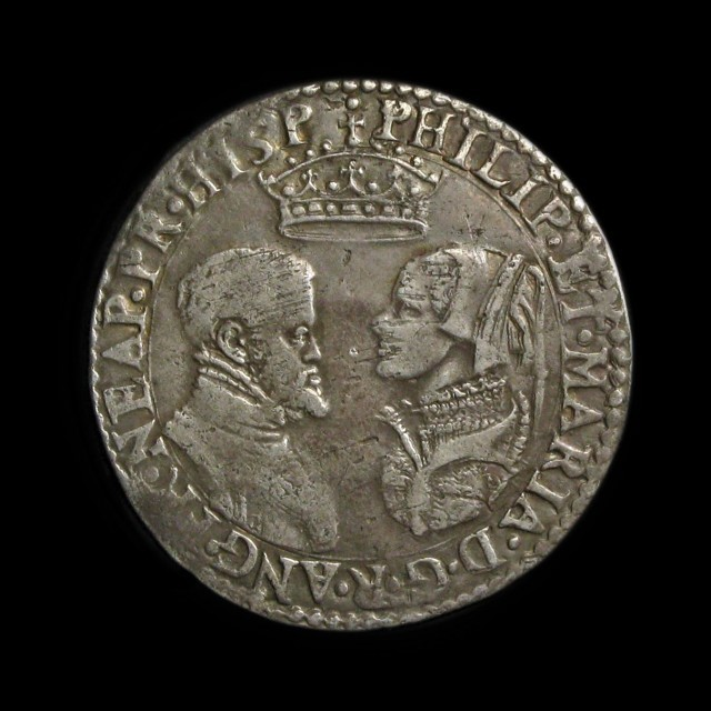 Coin-showing-Philip-and-Mary-as-King-and-Queen-of-England
