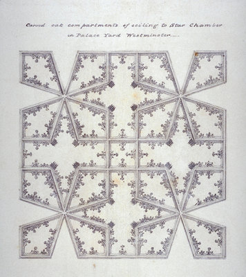 Drawing-of-Star-Chamber-ceiling-burnt-down-in-1834