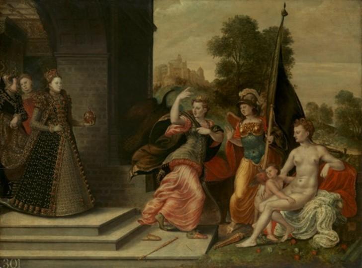 Elizabeth And The Three Goddesses Ewarth Or Hoefnagel © Rct