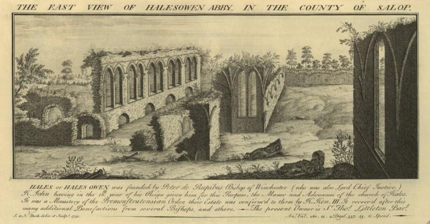 Halesowen Abbey East By Samuel And Nathaniel Buck
