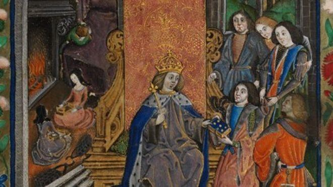 Henry Vii Henry Duke Of York Margaret Queen Of Scots And Princess Mary Mourning Elizabeth Of York –© National Library Of Wales Detail