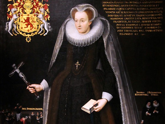 Mary-Queen-of-Scots-portrayed-as-a-Catholic-martyr