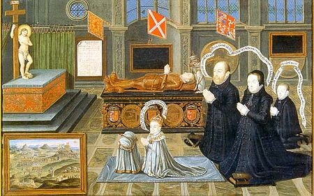 Matthew-Stewart-and-his-wife-Lady-Margaret-Douglas-mourning-their-son-Henry-Lord-Darnley-King-of-Scots-1545-–-1567