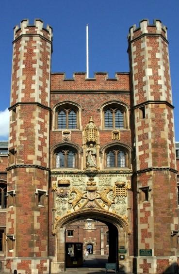 St-John's-College-Cambridge-showing-the-Beaufort-Portcullis