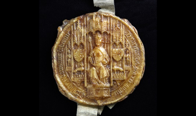 The-Great-Seal-of-Henry-VII-held-by-the-Lord-Keeper