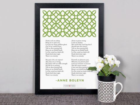 Poster: Anne Boleyn's Poem