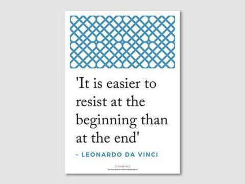 Poster: Leonardo da Vinci Quote