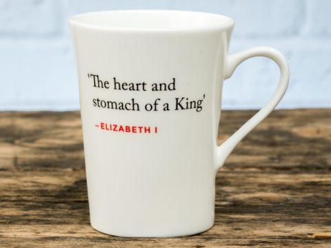 Bone China Mug with Elizabeth I Quote