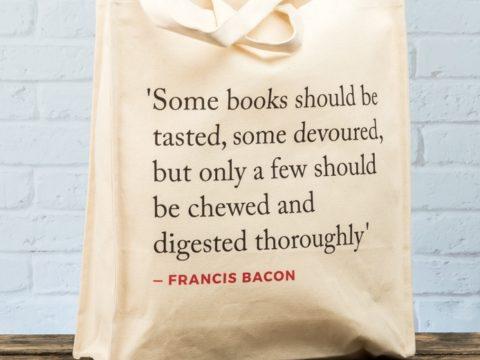 Francis Bacon Quote Tote Bag