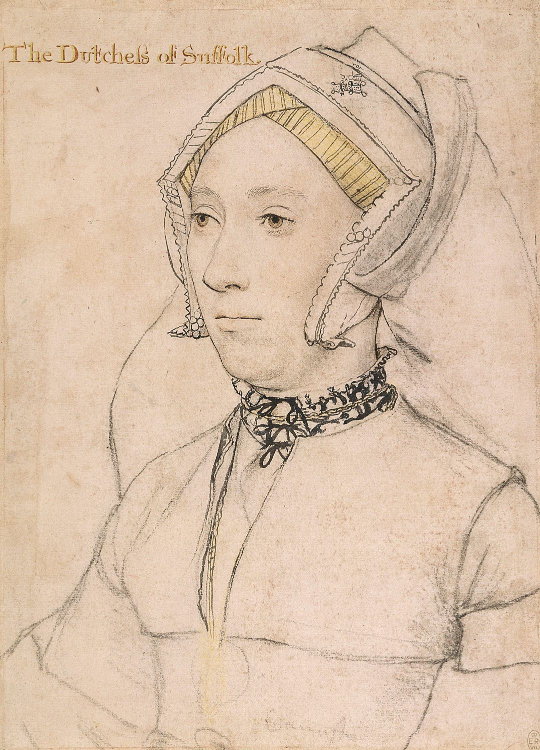 Willoughby-Catherine Duchess of Suffolk by Hans Holbein the Younger-3