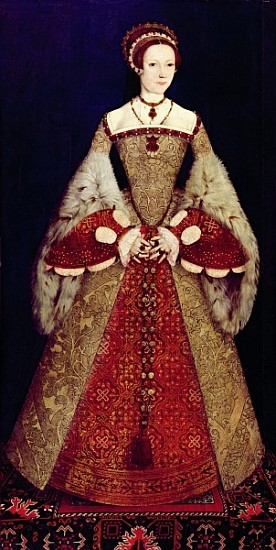 Katherine-Parr-–-English-farthingale-to-hold-out-skirts-and-gown-cut-away-to-show-kirtle