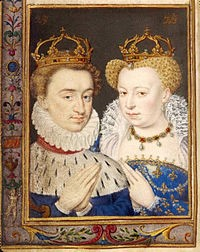 Henri-of-Navarre-and-his-first-wife-Marguerite-de-Valois-–-'La-Reine-Margot'.-Their-marriage-was-the-occasion-of-the-Massacre-of-St-Bartholomew