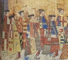 Henry-Courtenay-Marquess-of-Exeter-in-his-Garter-robes-second-from-left