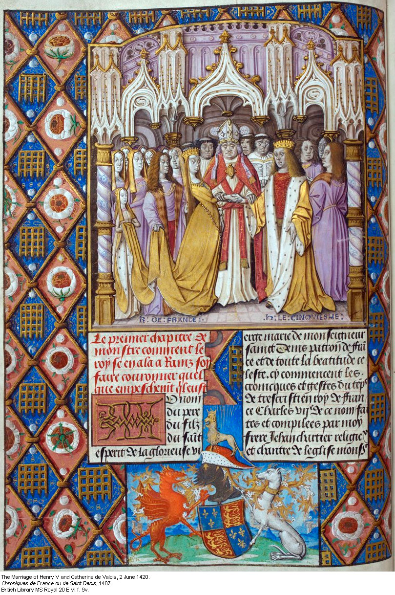 Catherine-de-Valois-marriage-to-Henry-V