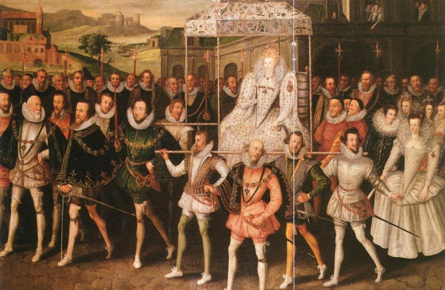 Elizabeth I In Procession By Robert Peake The Elder 2 Dimensional Copy Of A Work In The Public Domain In Country Of Origin