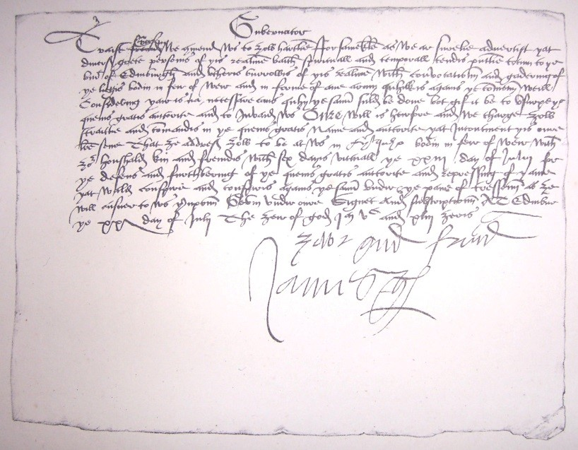 Letter-from-Arran-during-Wars-of-the-Rough-Wooing