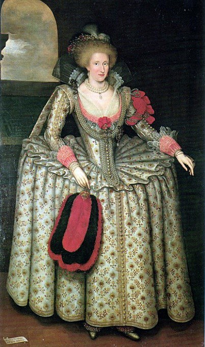Marcus Gheeraerts The Younger Portrait Of Anne Of Denmark