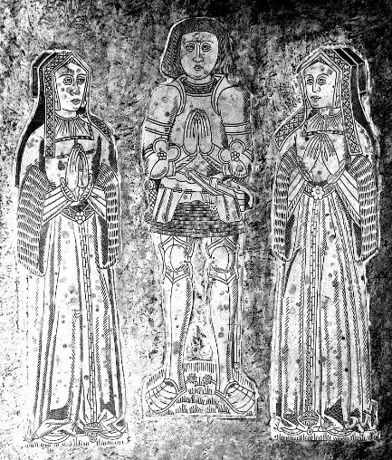 Tomb Of Sir John Basset And His Two Wives – Honor On The Left Elizabeth On The Right