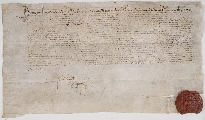 1490 Treaty With England Archives Nationales France Ae Ii 525