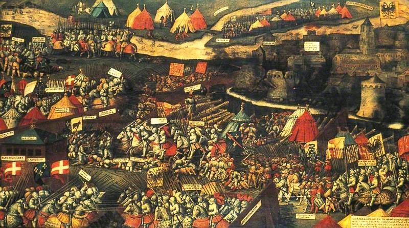 Battle-of-Pavia-1525-where-France-Scotland's-ally-was-heavily-defeated-by-the-Emperor-Charles-V