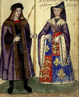 Marriage-of-James-IV-and-Margaret-of-England-note-the-Kings-iron-belt-worn-in-penance-for-his-fathers-death