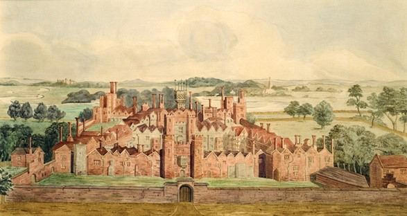 A 17Th Century View Of Oatlands Palace