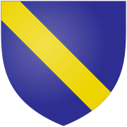 Arms-of-Scrope-of-Bolton-–-'Azure-a-bend-Or'-by-Benjamin-D.-Esham-Licensed-under-Public-Domain-via-Wikimedia-Commons