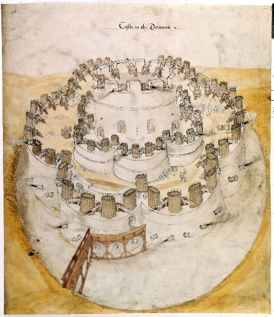 Deal Castle – A Plan From 1539 © British Library
