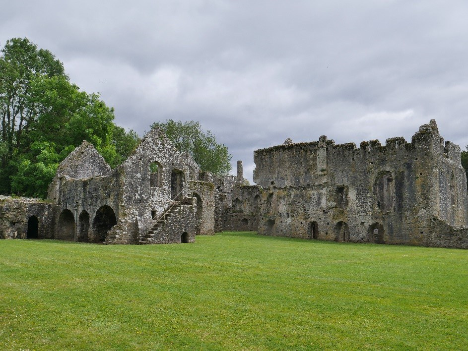 Lamphey Llandyfai Bishops' Palace – Chapel To Left Western Hall To Right © Tudor Times Ltd 2019