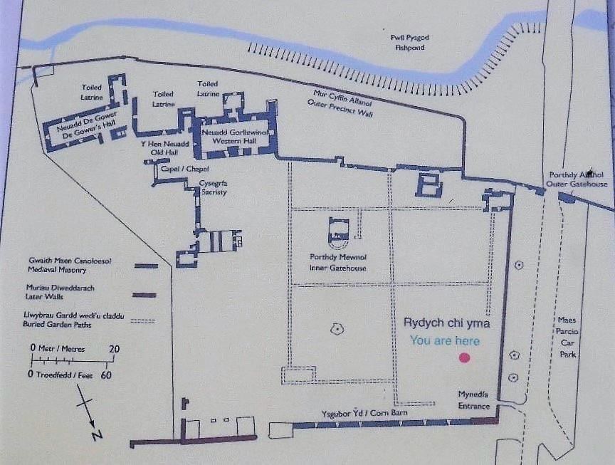 Lamphey Llandyfai Palace Layout 4