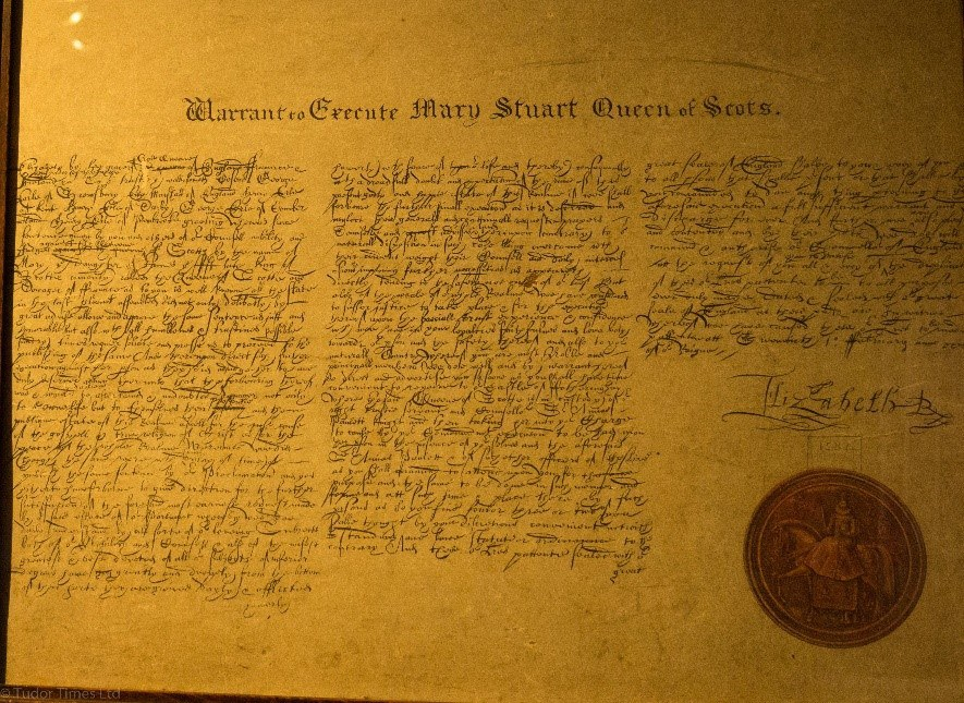 Photograph Of A Copy Of The Death Warrant – Original Copy At Lambeth Palace Library