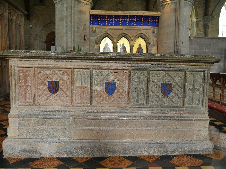 Tomb Of Edmund Tudor Earl Of Richmond D 1456 With The Restored Shrine Of St David Behind  St David'S Cathedral © Tudor Times Ltd 2019