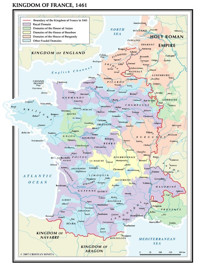 Fig 6 France In 1460 Just Before The Accession Of Louis Xi