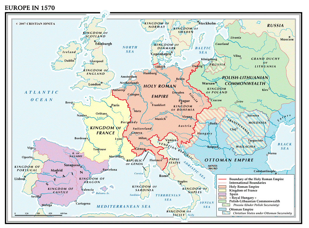 Fig 7 France In 1570