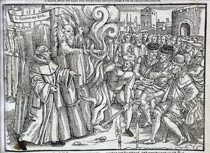 Martyrdom Of Cranmer 1563 Edition